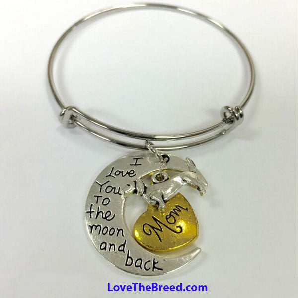 Dachshund Mom Love You to the Moon and Back BRACELET