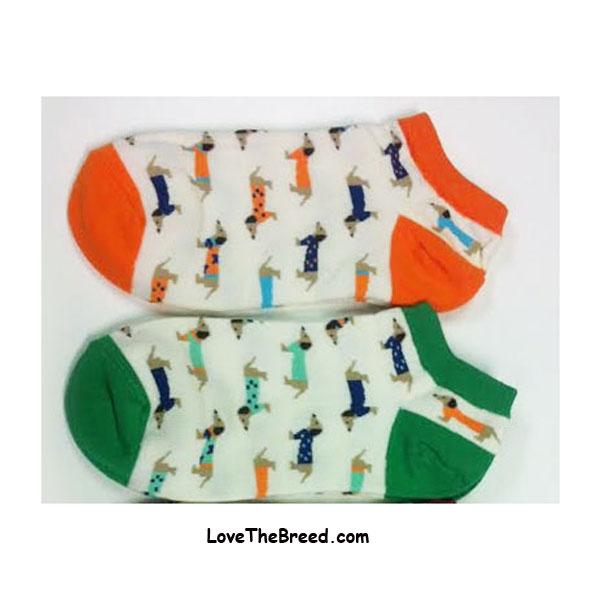 Dachshunds in Sweaters Ped Socks
