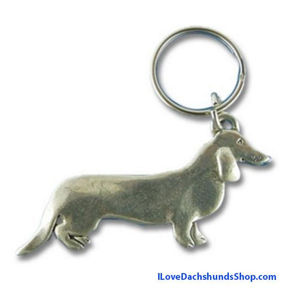 Dachshund Pewter Key Chain