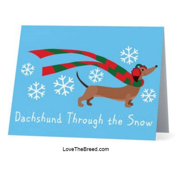 Dachshund Through the Snow Holiday Cards