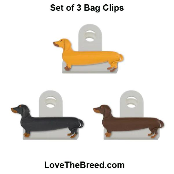 Dachshund Bag Clips (Set of 3)