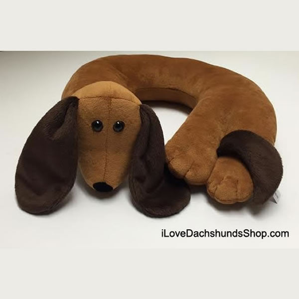 I Love Dachshunds Neck Pillow