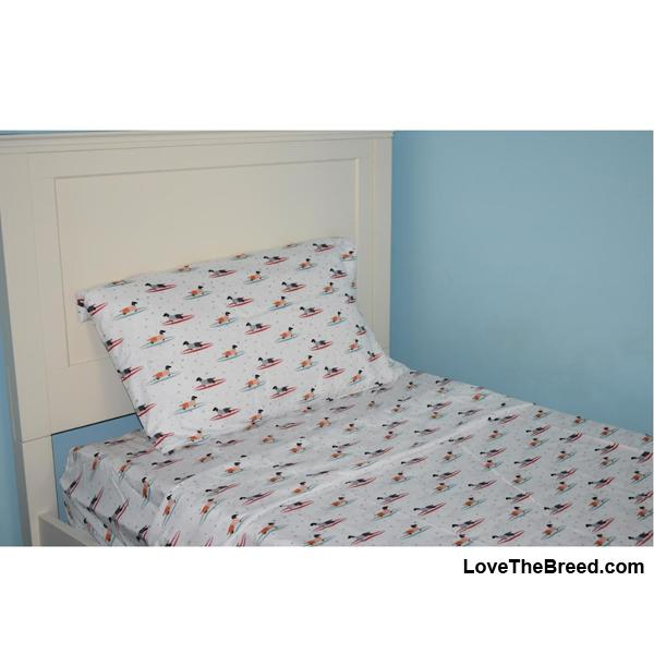 Dachshunds on Surf Boards Print Sheet Sets