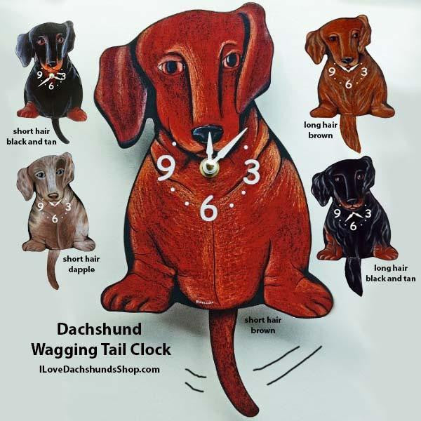 Dachshund Wagging Tail Clock