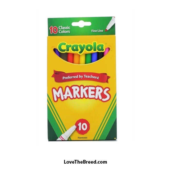 Crayola Fine Tip Markers 10 pack