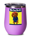 Dachshund Brown Rosie the Riveter Stemless Wine Cup