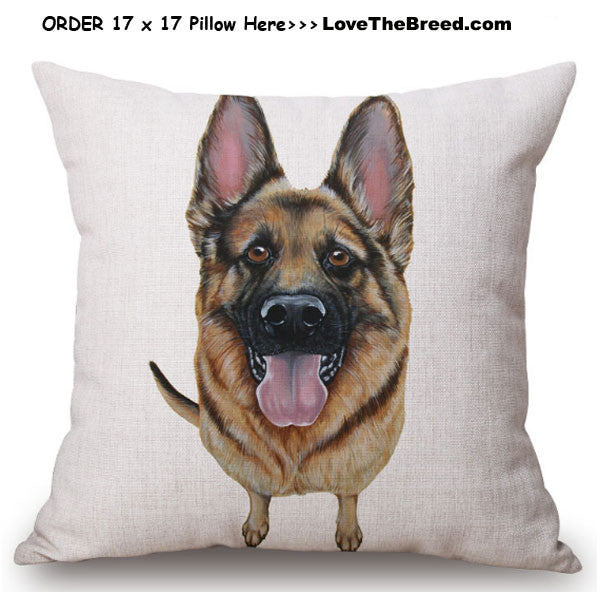 German Shepherd Linen Pillow