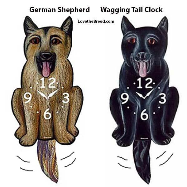German Shepherd Wagging Tail Clock