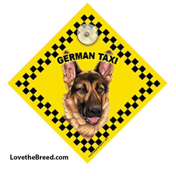 German Shepherd Taxi Car Sign