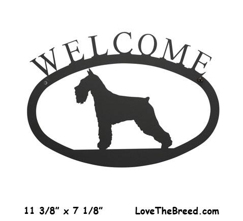 Schnauzer Wrought Iron Welcome Sign
