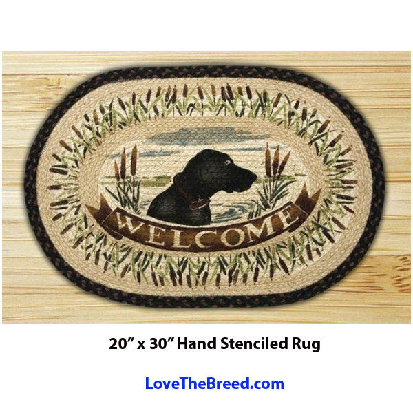 Labrador Welcome Braided Rug 20 x 30