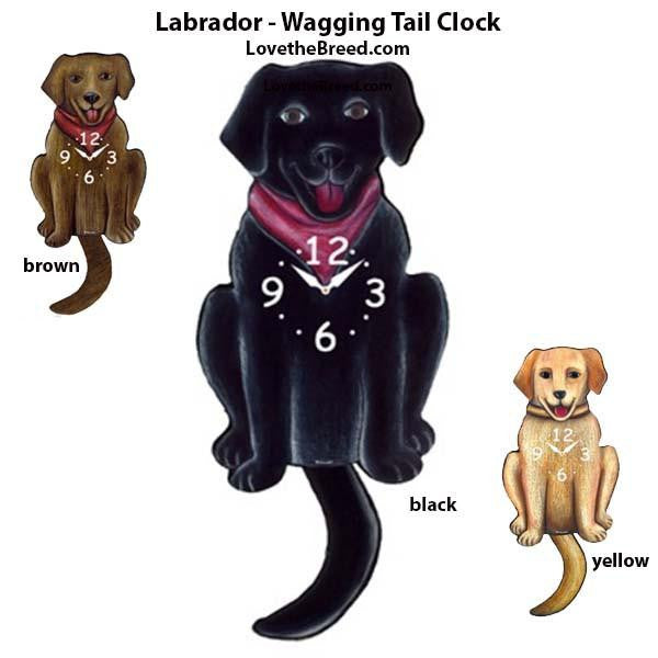 Labrador Wagging Tail Clock