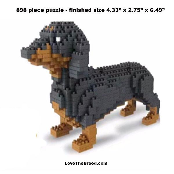 Dachshund mini blocks puzzle 898 pieces