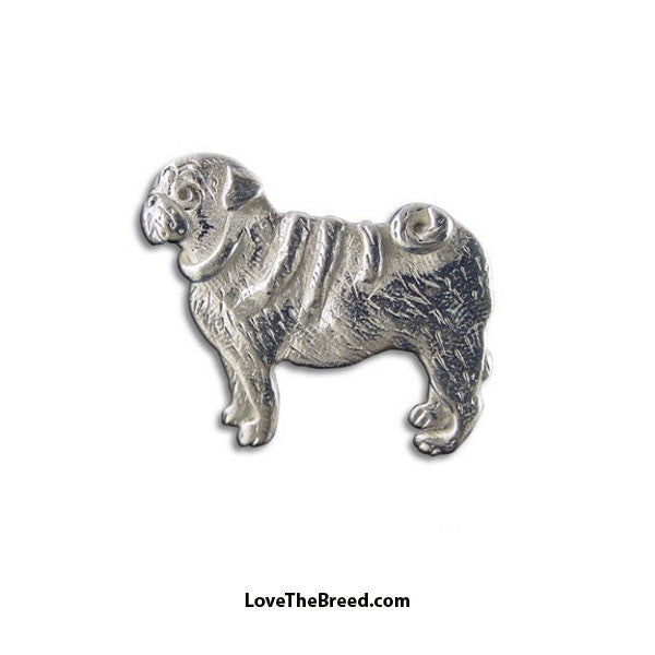 Pug Pewter Pin