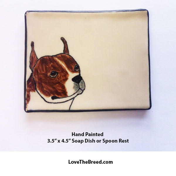 Pit Bull Dish for Soap, Spoon Rest, Jewelry