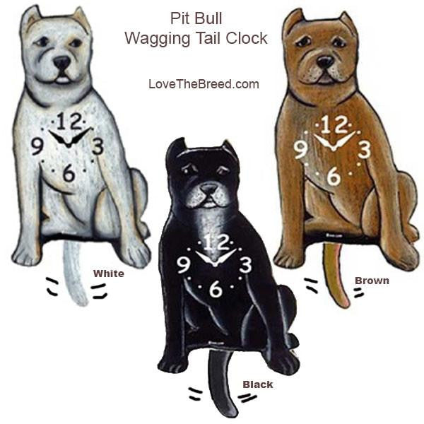 Pit Bull Wagging Tail Clock