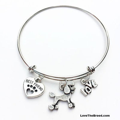 Poodle Best Friend Love Charm Bracelet