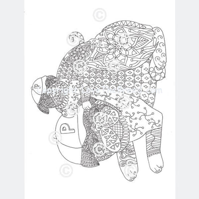Pug Coloring Book for Adults and Children - Volume 1
