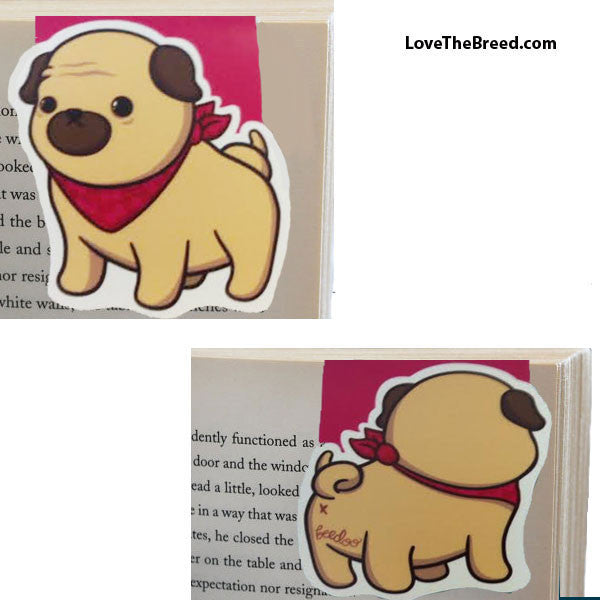 Pug with Bandana Magnetic Book Mark