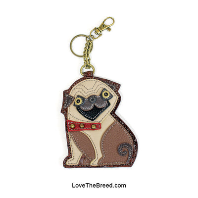 Pug Key Chain Coin Purse Charm Chala