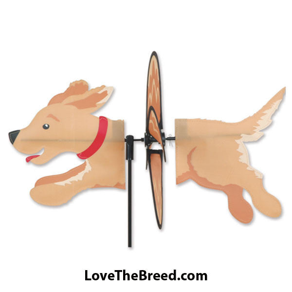 Golden Retriever Dog Petite Wind Spinner