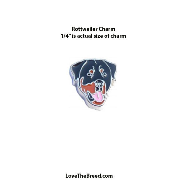 Rottweiler Face Floating Charm