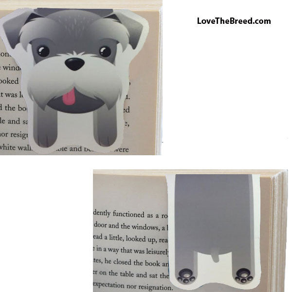 Schnauzer Magnetic Book Mark
