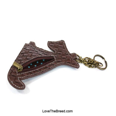 Schnauzer Key Chain Coin Purse Charm Chala