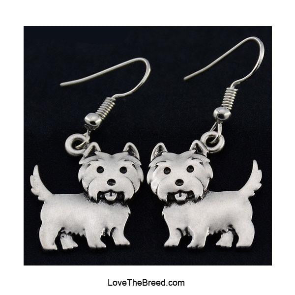 West Highland Terrier Charm Earrings