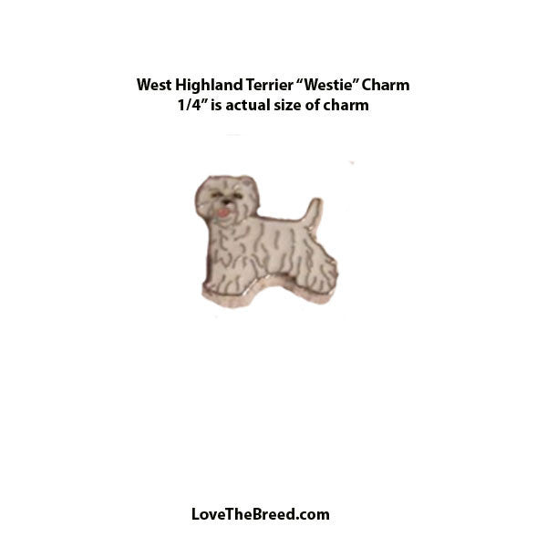 West Highland Terrier Westie Floating Charm