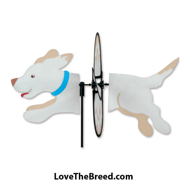 Yellow Labrador Dog Petite Wind Spinner