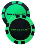 Golfjams bluetooth speaker system golf poker chip