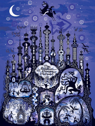"""THE ADVENTURES OF PRINCE ACHMED"" ARTIST: LESLEY BARNES VARIANT EDITION OF 75 $65"