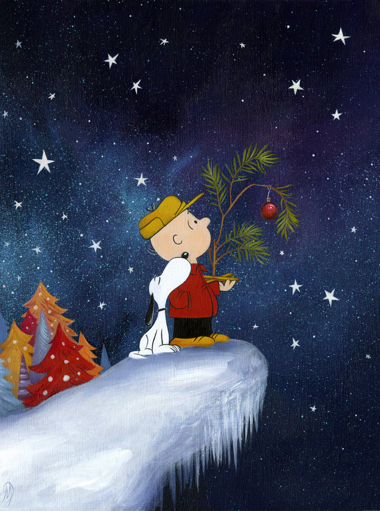 "DAN MAY ""A CHARLIE BROWN CHRISTMAS"" CANVAS 18"" x 24"" edition of 25"
