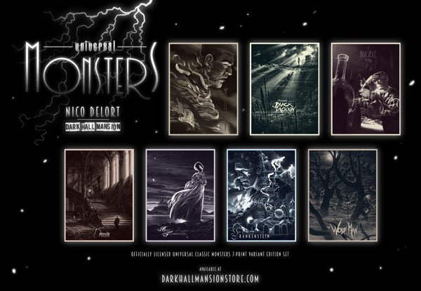 """Universal Classic Monsters"" 7-print Variant edition"