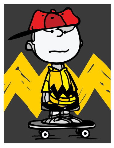 """PEANUTS ATTITUDE"" ARTIST: DAVID FLORES ""CHARLIE BROWN"" 18"" X 24"" VARIANT EDITION OF 75 $65"