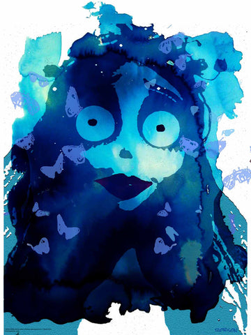 "TIM BURTON'S ""CORPSE BRIDE"" VARIANT 18"" x 24"" ""Butterfly Finale"" edition of 100"