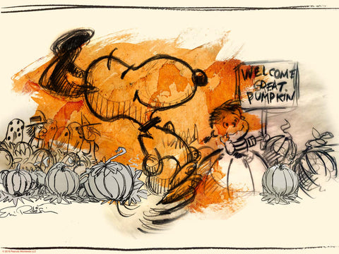 """IT'S THE GREAT PUMPKIN, CHARLIE BROWN"" Variant Artist Sketch edition of 100"