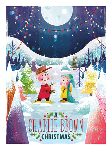 """A CHARLIE BROWN CHRISTMAS"" ARTIST: ADAM GRASON ALTERNATE ""IT JUST NEEDS A LITTLE LOVE"" 18"" X 24"" EDITION OF 140 $55"