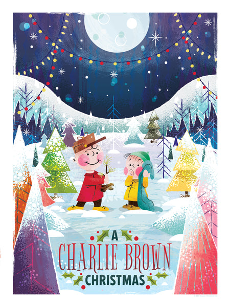 """A CHARLIE BROWN CHRISTMAS"" ARTIST: ADAM GRASON GIFT SET OF BOTH-STANDARD + ALTERNATE PRINTS-IN 9"" X 12"" FORMAT. EDITION OF 100 $55"