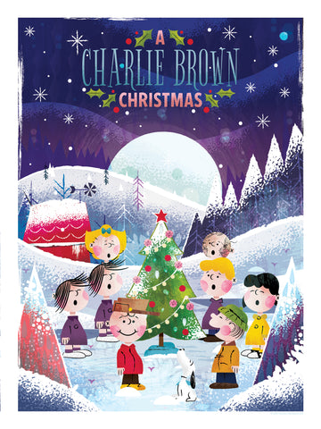 """A CHARLIE BROWN CHRISTMAS"" ARTIST: ADAM GRASON STANDARD 18"" X 24"" EDITION OF 140 $55"