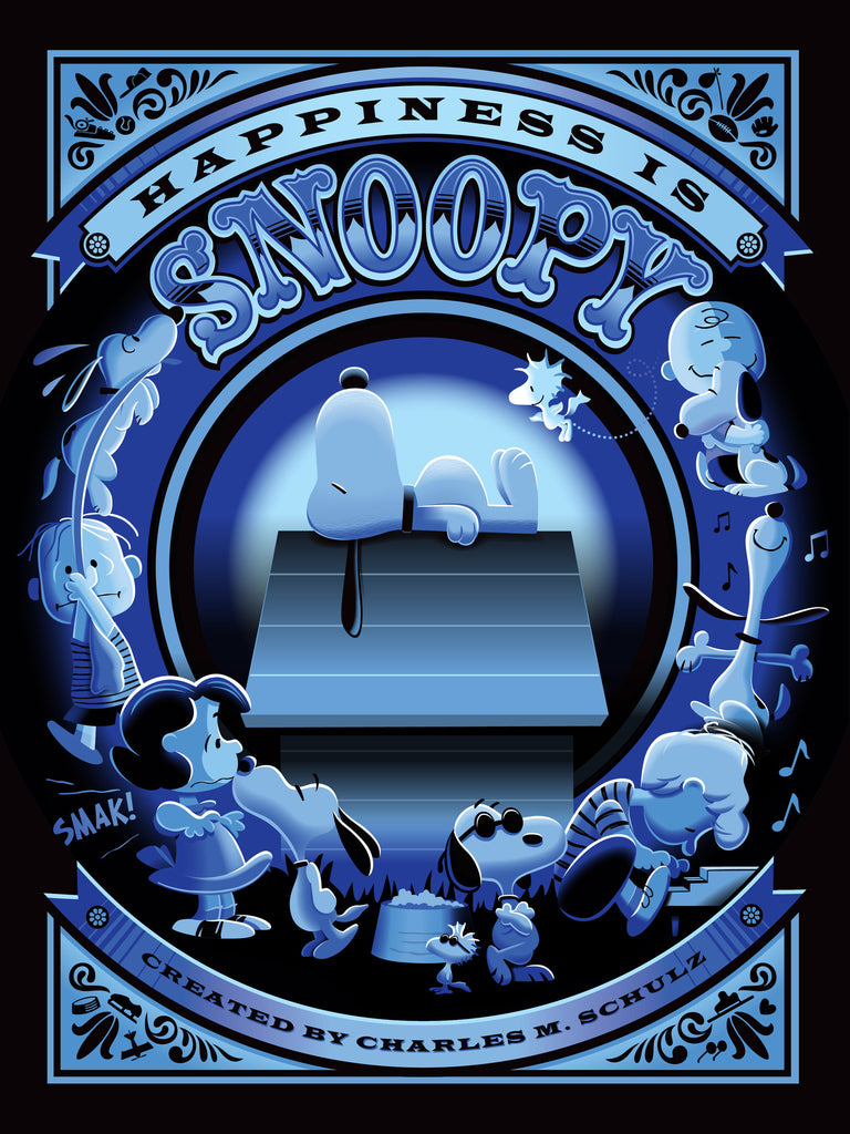 "JEFF GRANITO ""HAPPINESS IS SNOOPY"" VARIANT JOE COOL BLUE Edition of 50"