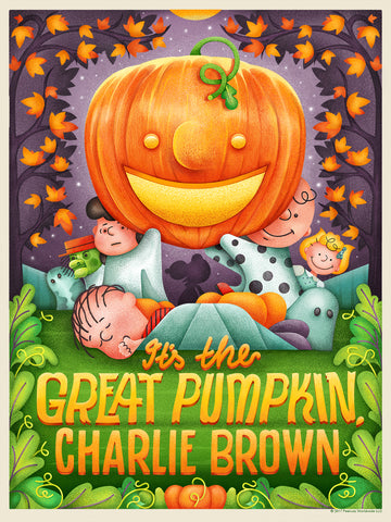 """IT'S THE GREAT PUMPKIN, CHARLIE BROWN"" STUDIO MUTI STANDARD 9"" X 12"" EDITON OF 100 $25"