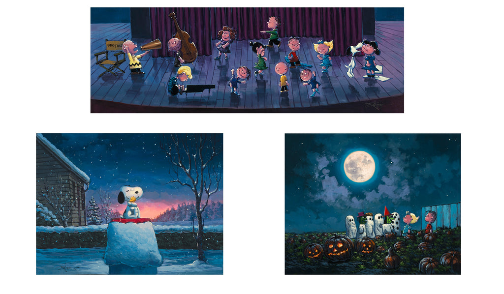 """RODEL GONZALEZ 3-PRINT PEANUTS COLLECTOR SET"" EDITION OF 100 3 SEPARATE PRINTS FOR $55"