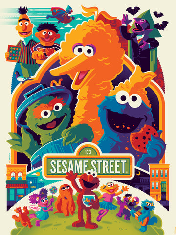 """SESAME STREET"" TOM WHALEN STANDARD EDITION OF 280 $55"