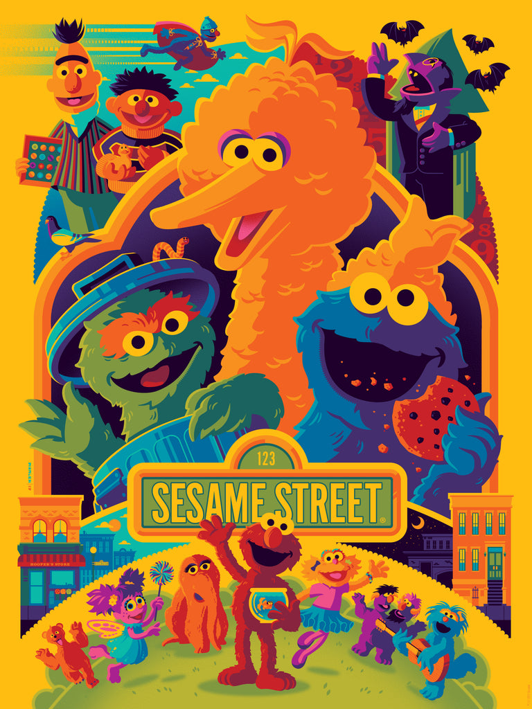 """SESAME STREET"" TOM WHALEN VARIANT *BIG BIRD* EDITION OF 50 $85"