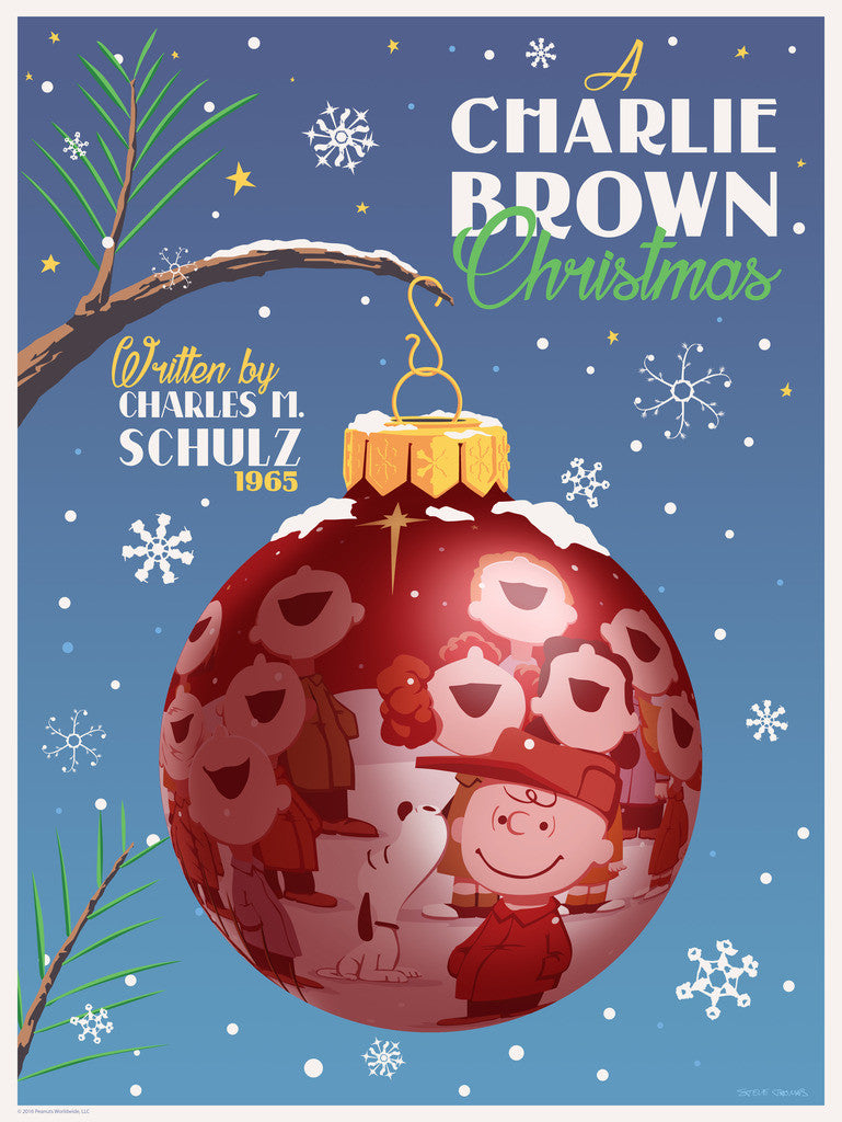 "STEVE THOMAS ""A CHARLIE BROWN CHRISTMAS"" STD 18"" x 24"" Ornament edition of 225"