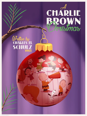 "STEVE THOMAS ""A CHARLIE BROWN CHRISTMAS"" VARIANT 18"" x 24"" Ornament ""DANCE BREAK"" Edition of 75"