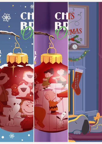 "STEVE THOMAS ""A CHARLIE BROWN CHRISTMAS"" SPECIAL 3-PRINT PACKAGE (INCLUDES ALL 3 INDIVIDUAL STEVE THOMAS PRINTS IN 11"" x 14"" FORMAT) Edition of 150"