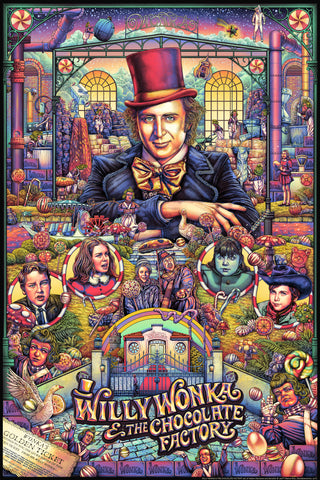 """WILLY WONKA & THE CHOCOLATE FACTORY"" ISE ANANPHADA VARIANT-EDITION OF 50 $95"
